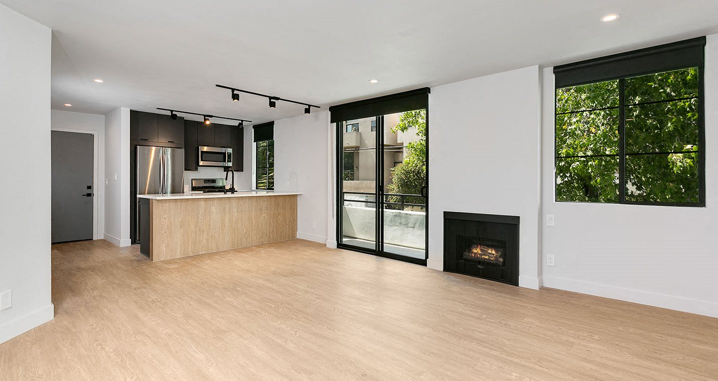 Gas fireplaces in every residence