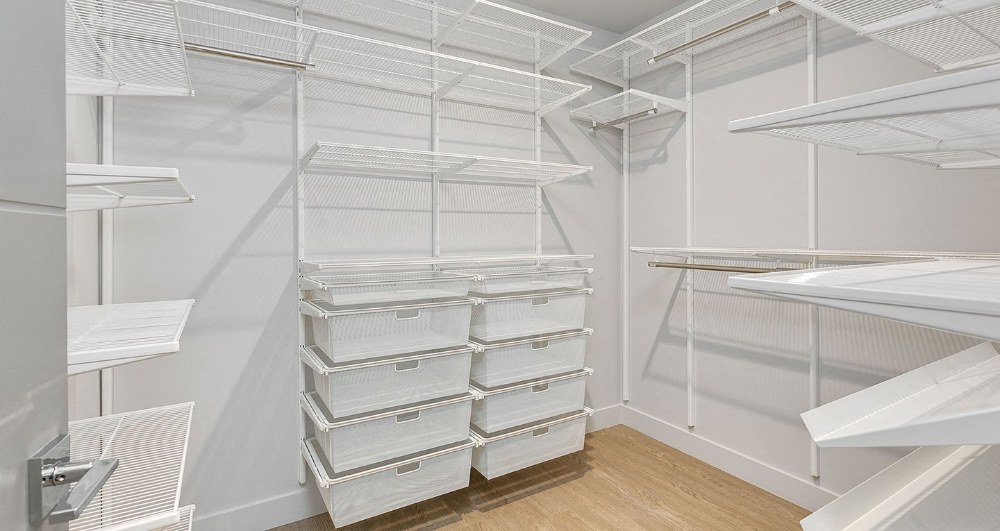 Large built-in closets