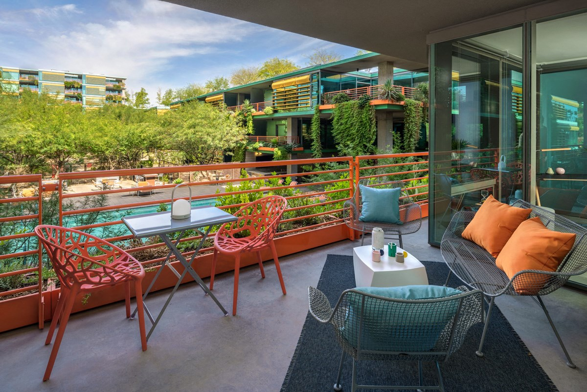 Views from the patio of our Scottsdale luxury apartments