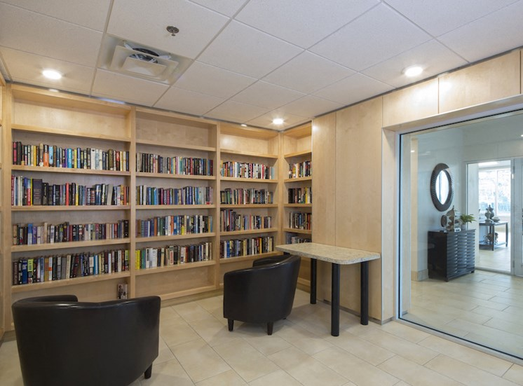 Mount Carmel Gardens senior apartments in jacksonville, florida library reading room