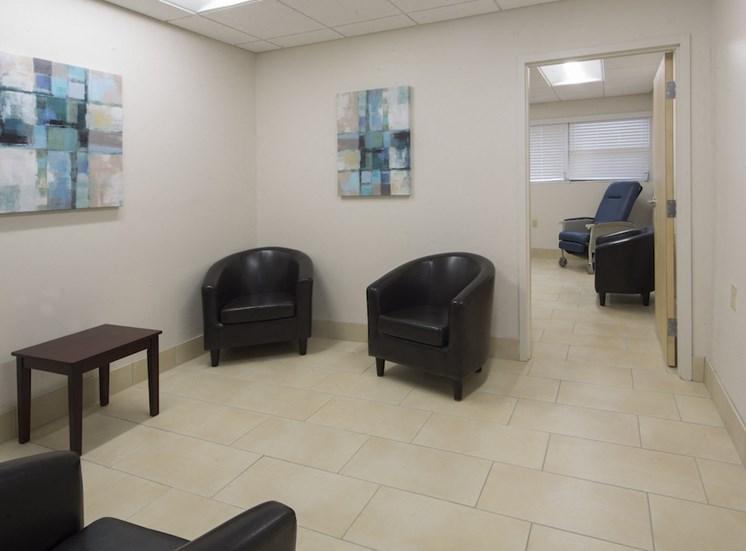 Mount Carmel Gardens senior apartments in jacksonville, florida waiting area for medical office