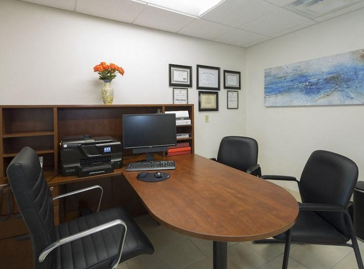 Mount Carmel Gardens senior apartments in jacksonville, florida leasing office interior