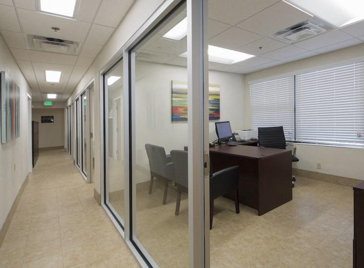 Mount Carmel Gardens senior apartments in jacksonville, florida leasing office hallway
