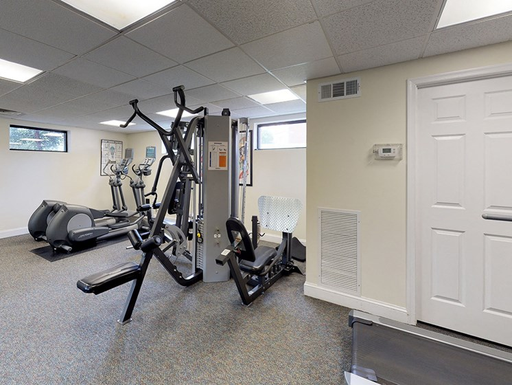 gym with resistance workout equipment for bren mar apartments in virginia