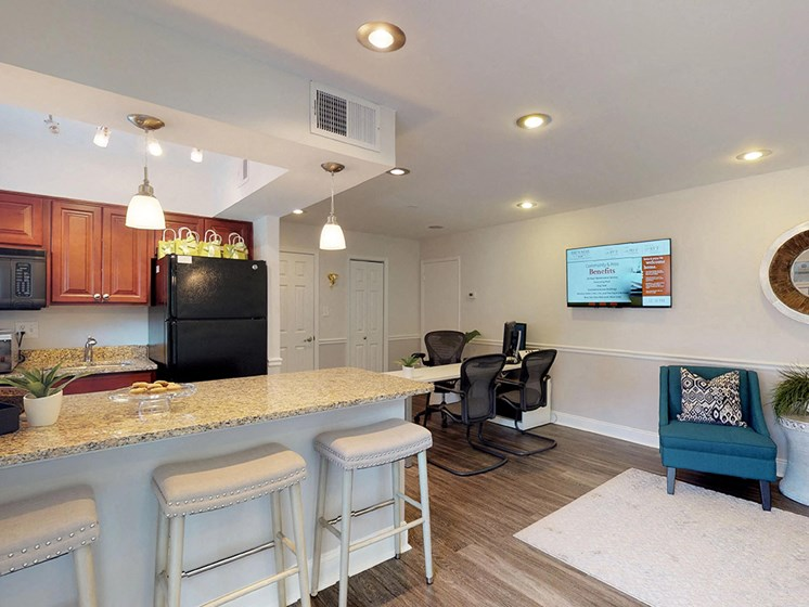 breakfast area with modern appliances in apartment