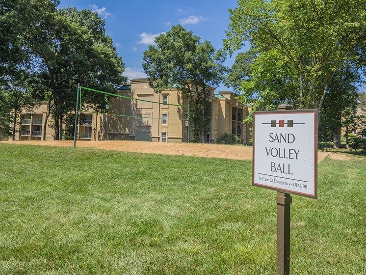 Volleyball Court With Sand at Stuart Woods, Herndon, Virginia