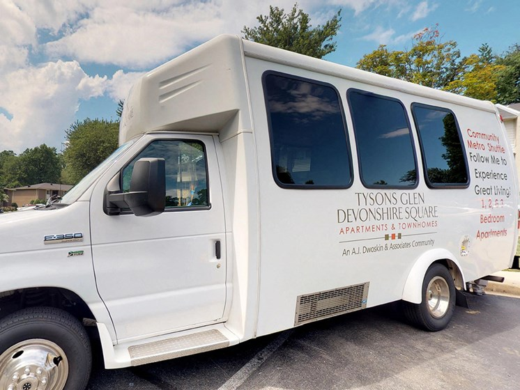 apartment building shuttle for residents