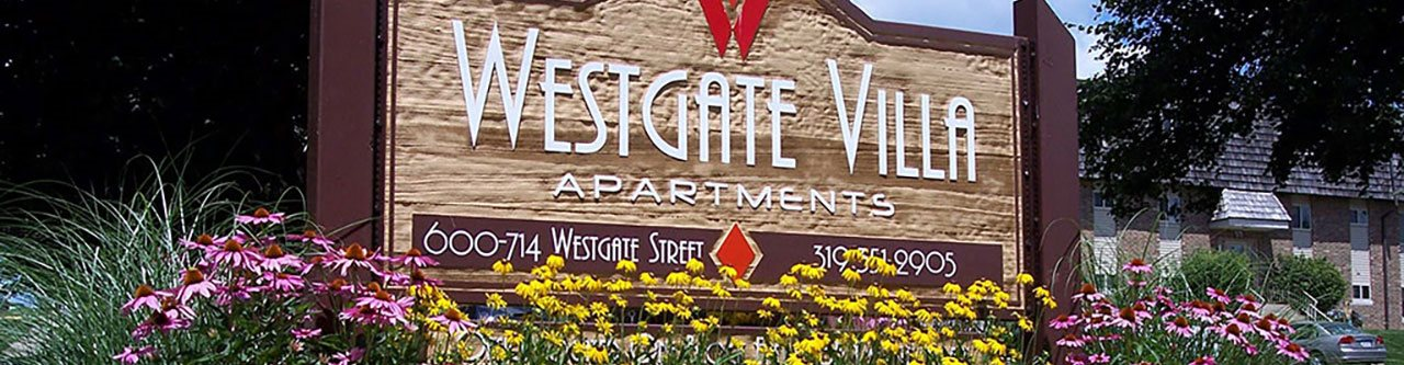 WGV Ext banner at Westgate Villa, Iowa, 52246
