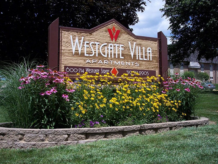 WGV Main Sign at Westgate Villa, Iowa City