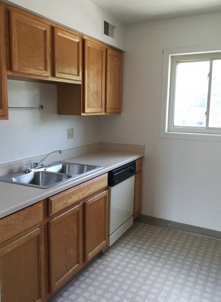 Stainless Steel Sink With Faucet In Kitchen at Westgate Villa, Iowa City, IA, 52246
