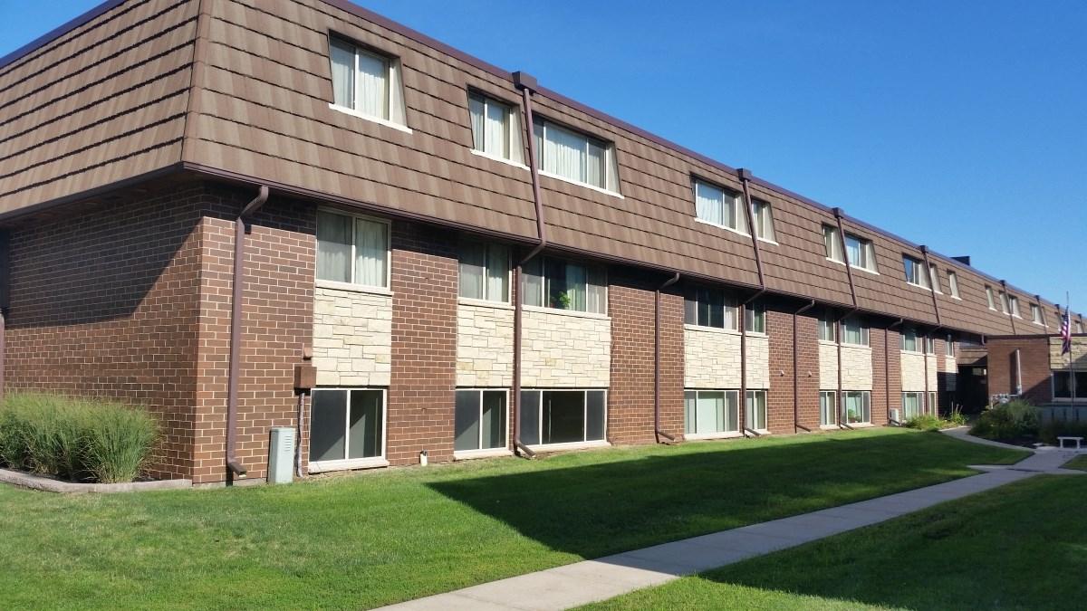 Apartment Building Exterior at Seville Apartments in Iowa City, IA