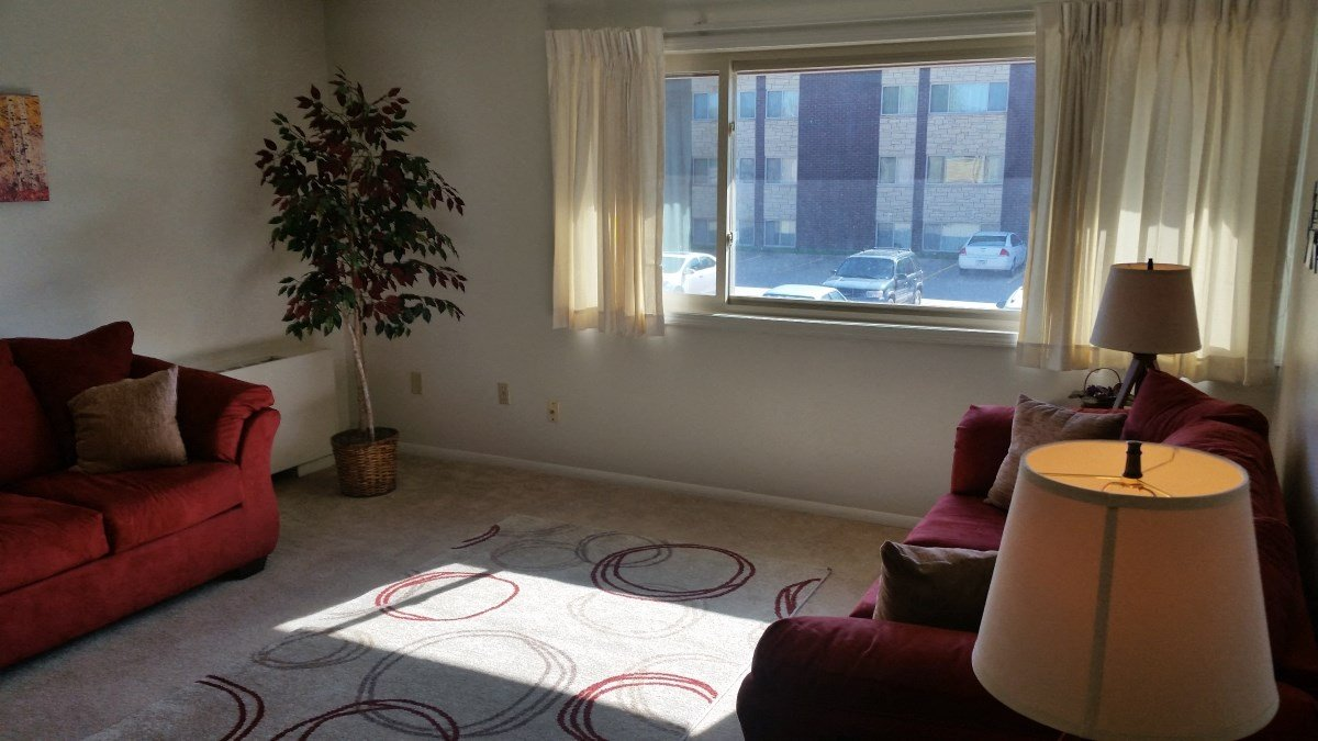 Living room at Seville Apartments in Iowa City, IA