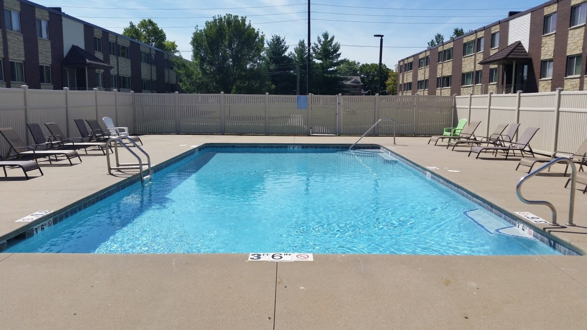 Swimming pool at Seville Apartments in Iowa City, IA