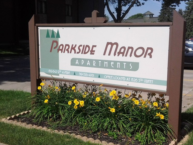 Parkside Manor Main Sign 7th Street at Parkside Manor, Coralville, IA, 52241