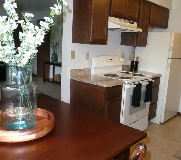 Well Equipped Eat-In Kitchen at Parkside Manor, Coralville, 52241