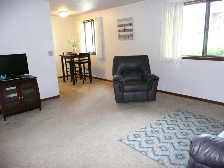 Living Room With Dining Area at Parkside Manor, Iowa, 52241