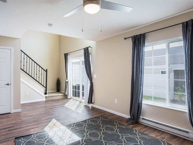 Grand Rapids MI Apartment Rentals Bayberry Chase Lower Level Stairs