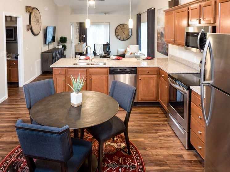 Lake Orion Michigan Apartment Rentals Redwood Lake Orion Kitchen with Granite and Stainless