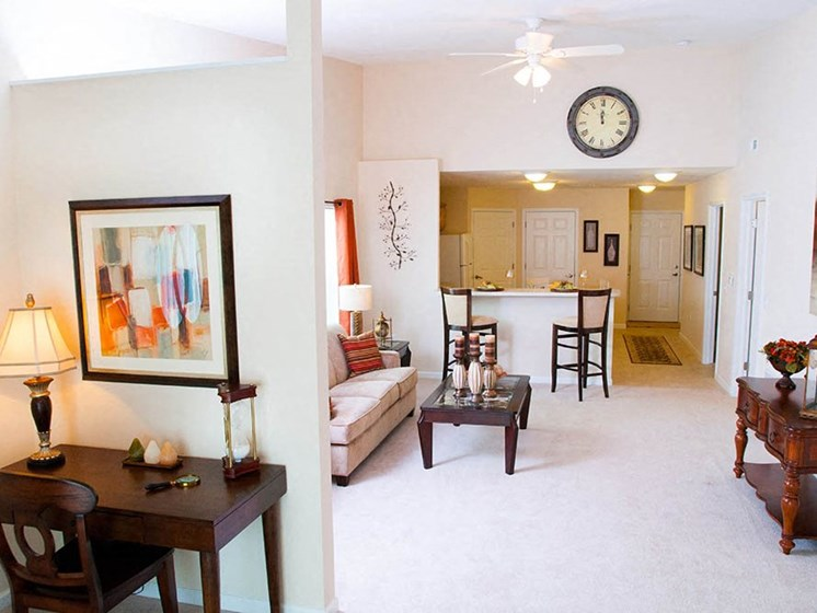 Lake Orion MI Apartment Rentals Redwood Waterstone At Village Square Living Room