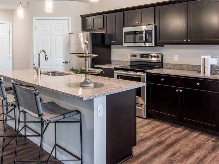 Brownstown MI apartment rentals Redwood Brownstown Telegraph Road kitchen