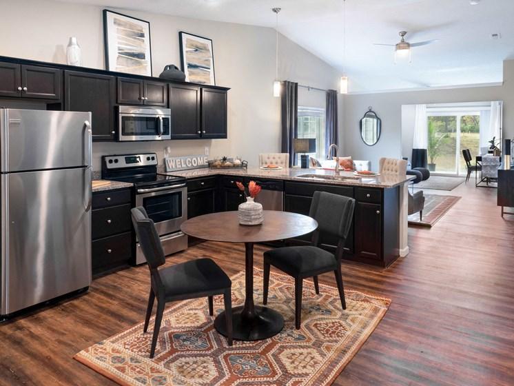 Fort Wayne Indiana apartment rentals Redwood Fort Wayne Diebold Road Living Room