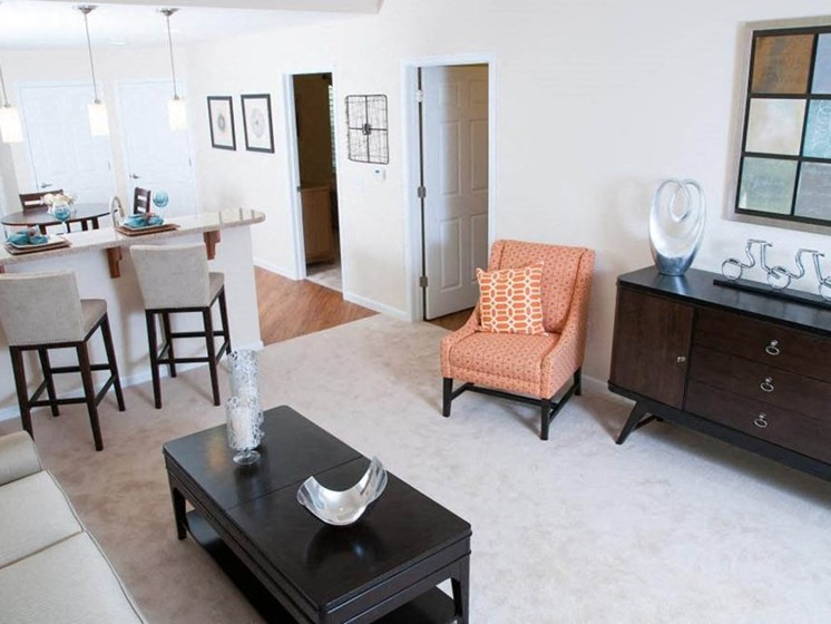 Whitestown IN Apartment Rentals Redwood The Woodlands Living Room