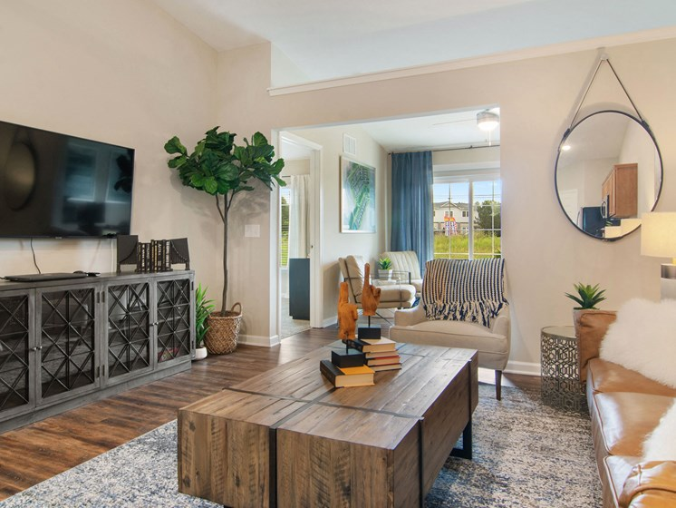 Plainfield IN Apartment Rentals Redwood Chatham Glen Living Room To Den Space
