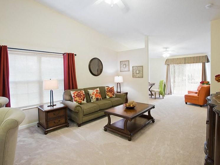 Macedonia OH Apartment Rentals Redwood Enclave At Macedonia Living Room