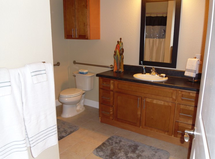 St. Anthony Garden Court apartments in St. Cloud, FL spacious bathroom