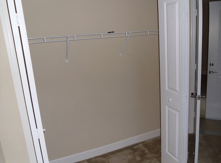 St. Anthony Garden Court apartments in St. Cloud, FL spacious closets