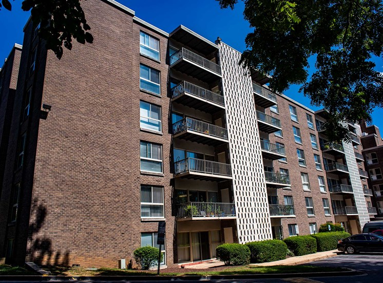 Silver Spring House Apartments Shaded Side
