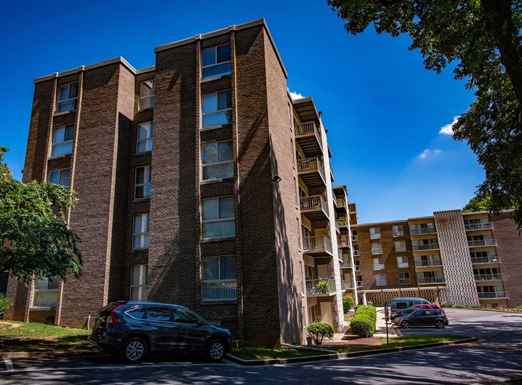 Silver Spring House Apartments Building Back Corner