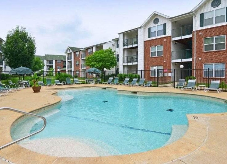 outdoor swimming pool at apartments