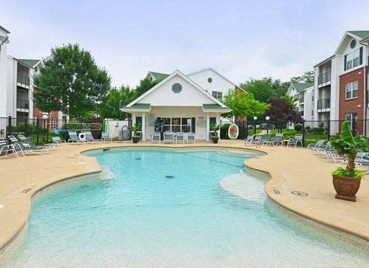 swimming pool by clubhouse