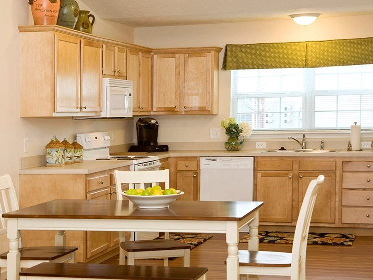 North Ridgeville OH Apartments For Rent Redwood Retreat At Stafford Single Story Kitchen Floorplan