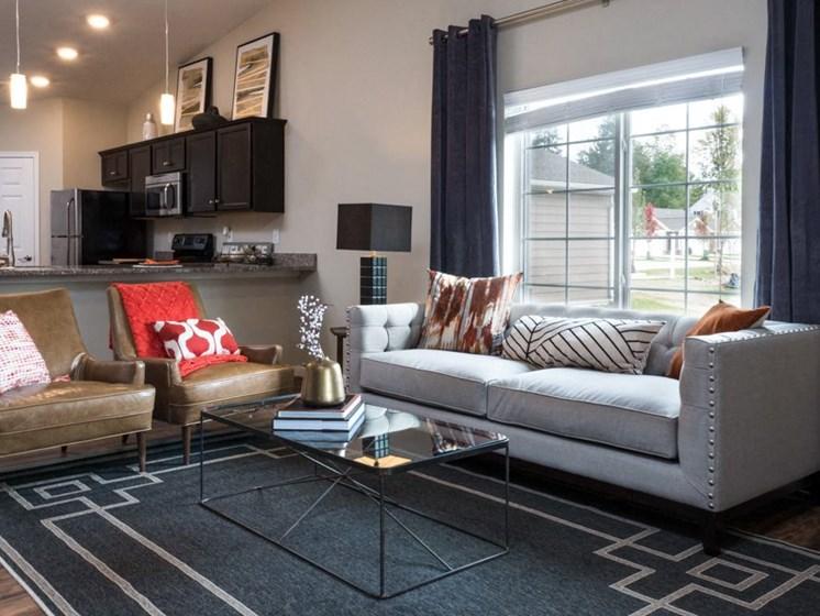 Lake Wylie SC Apartment Rentals Redwood Lakepointe Ridge Living Room Kitchen