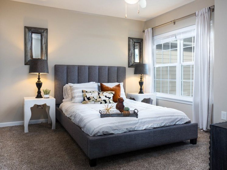 Concord NC Apartment Rentals Redwood Master Bedroom