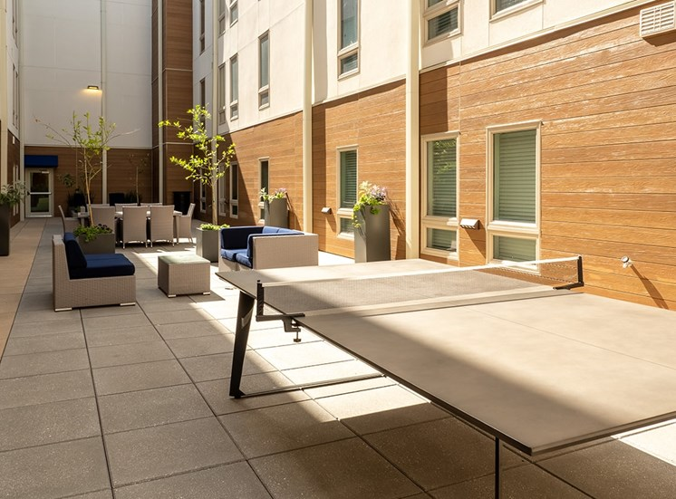 1643 Josephine Apartment Homes private courtyard