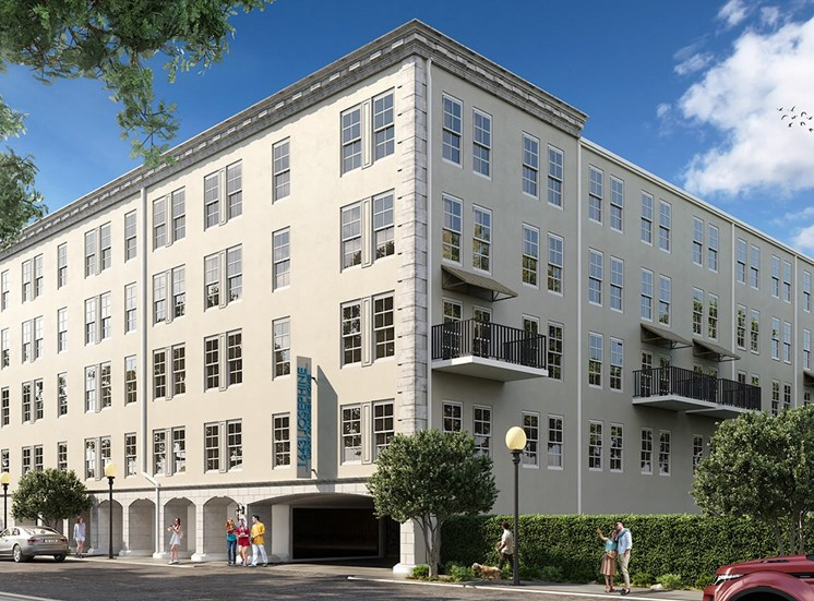 Exterior rendering of 1643 Josephine Apartment Homes in New Orleans