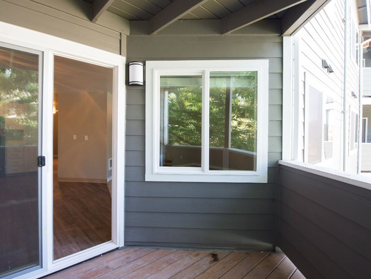 Private Patio with Additional Storage