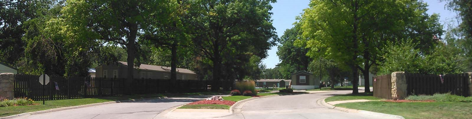 Entrance Driveway at Maple Grove Rental Homes in Lincoln, NE