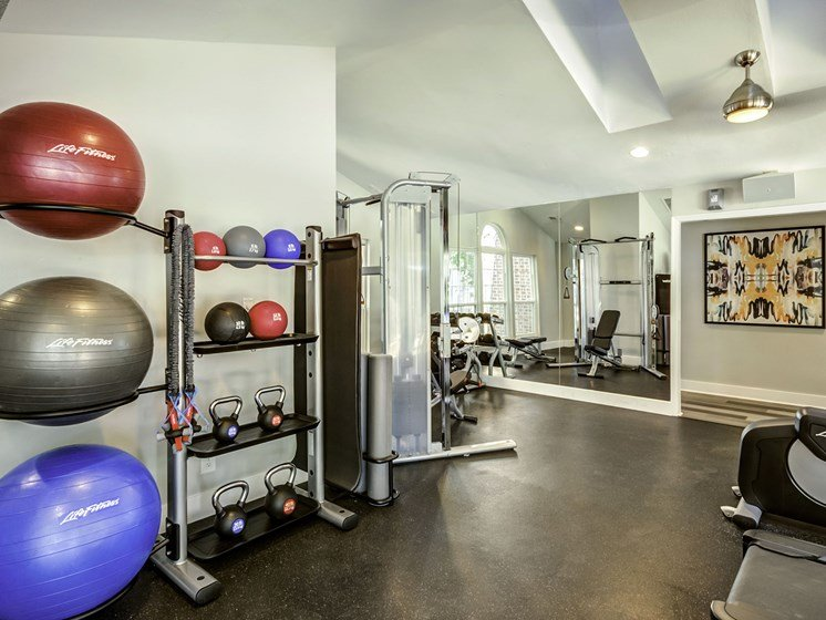 Kettlebells and exercise balls