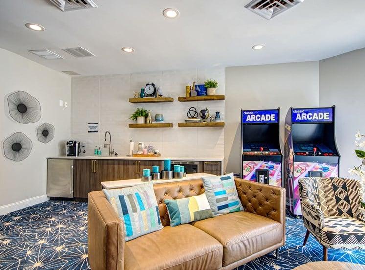 Woodside game lounge.