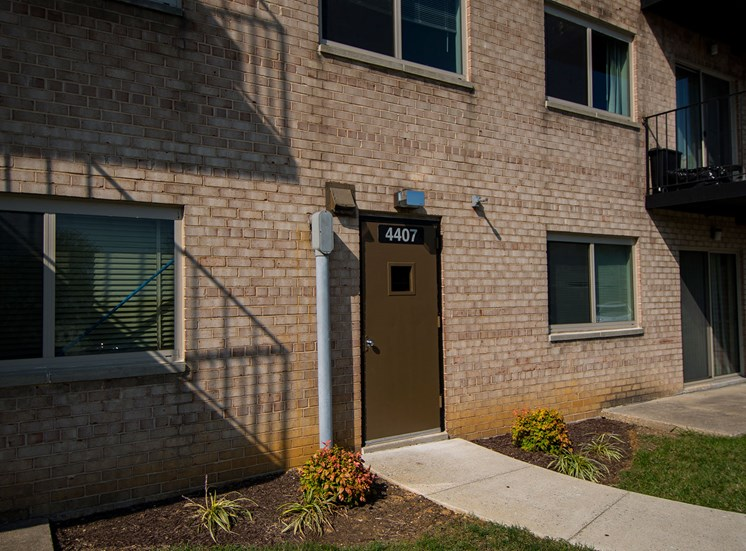 Clermont Apartments Controlled Rear Entrance