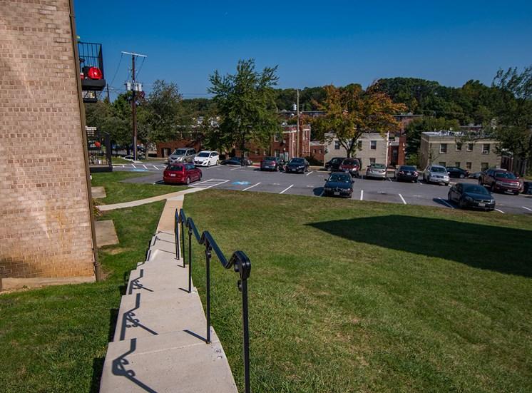 Clermont Apartments Building Parking 1