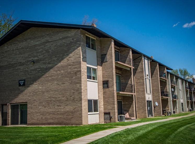 Crane Village Apartments Unit Walking Path