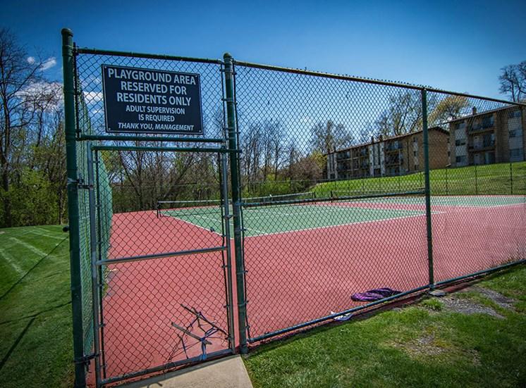 Crane Village Apartments Tennis Court Entry