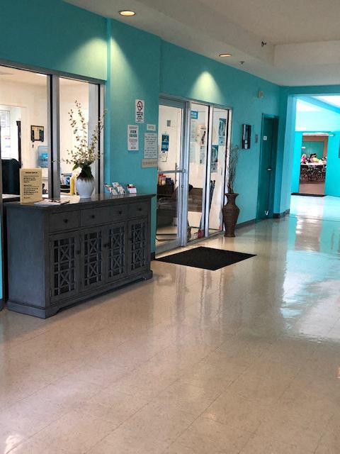 lobby and reception desk at Deedco Gardens in Homestead, FL