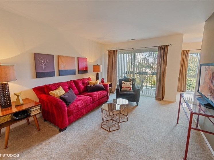 Living Room  at The Residences At The Manor Apartments in Frederick, MD