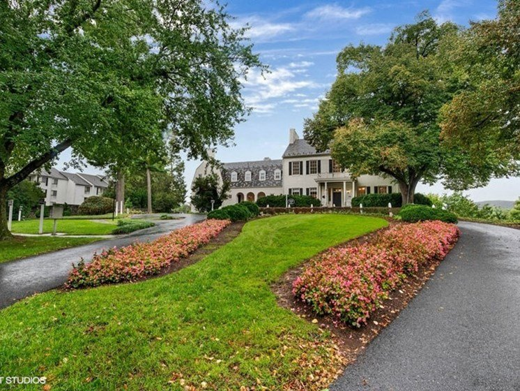 Well Landscaped Grounds at The Residences at the Manor Apartments, Frederick, 21702